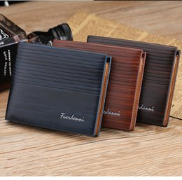 Wholesale Mens Wallet Free Shipping - PU Leather Wallets New Arrival For Mens Designer Bifold Money Purse High quality Cluch Cente Party Traver Wallet H300371 Free Shipping