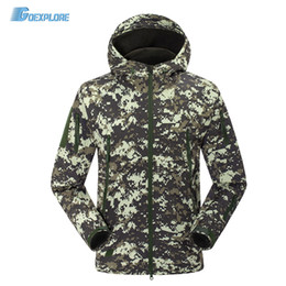 Wholesale Hunting Jacket Orange - Wholesale- Dropshipping new Brand Autumn Winter Jackets Sport Outdoor Climing Hiking Windbreaker Coat windstopper softshell jacket for mens