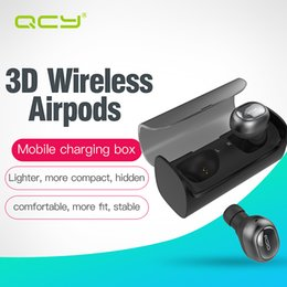 Wholesale Original Ear Phones - 100% Original QCY Q29 Business Headphones Bluetooth Earphones Mini Twins Wireless Stereo Headsetst two earbuds with Charging BOX wholesale