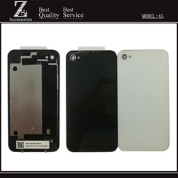 Wholesale Iphone 4s Door - New 4 4S Battery Back Cover For iPhone 4 4G 4S 3.5'' Housing Back Battery Door Glass With Tracking