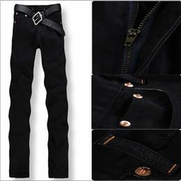 Wholesale Hot Cotton Capris - Wholesale-Big Size 29-42,2016 New Arrival Hot Sale Famous Brand Straight Denim Cotton Men Jeans,Retail & Wholesale Fashion Jeans Men,33044