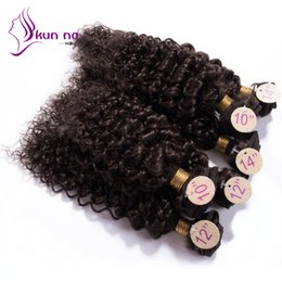 Wholesale Curly Remy Hair For Sale - Wholesale-DIVA cheap curly virgin hair brazilian hair unprocessed human hair 6pcs per lot 200g remy curly wave hair for sale
