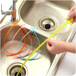 Wholesale Toilet Brush Hook - Cleaning hook bathroom floor drain sewer dredge device small tools Creative Home Sewer Toilet Sink Bathtub Cleaning Brush