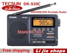 radios de control de volumen Rebajas Al por mayor-ENVÍO GRATIS TECSUN DR-920C Digtal pantalla FM / MW / SW Radio portátil DR-920