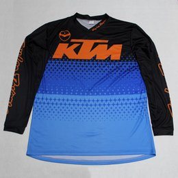 Motocross jersey ropa online-2017 KTM Ciclismo manga larga Jersey Cuerda Ciclismo Maillot Hombre Motocross MTB Ciclismo Ropa Camiseta de bicicleta Riding Bike Ropa Sportwear