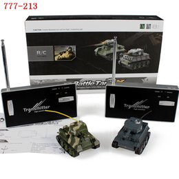 Wholesale Plastic Army Tanks - Wholesale- Happycow 777-213 Battle Mini Rc Tank Two Fighting Remote Control Army Tanks Kids Electric Toys Fun Gift