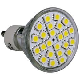 Wholesale Spot Led 12v 5w - New Mode 5W Led Spot GU10 E27 E14 MR16 Bulb Lights 120 Angle 385 Lumens 24pcs 5050 SMD Warm Pure White Led Spotlights 185-265V 50pcs lot