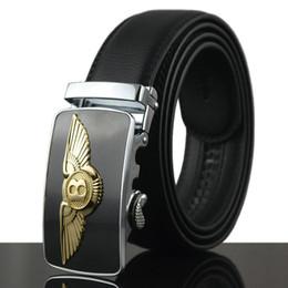 Wholesale Business Casual For Black Men - Belts for men famous brand Automatic buckle Genuine Leather belt men luxury belts business belt men waistband HY008 drop shipping