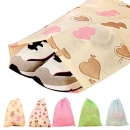 Wholesale Shoe Wholesale Dropship - Wholesale- New Qualified Fashion Printing Shoes Bag Portable Travel Storage Pouch Drawstring Dustproof Levert Dropship dig637