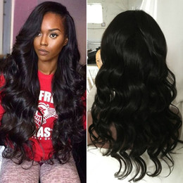 Wholesale Express Shipping Hair - Mongolian hair express shipping full lace wig natural unprocessed human hair wig body wave lace front wig