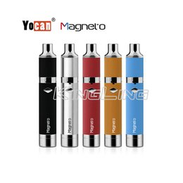 Wholesale Building Red - Yocan Magneto Kit 1100mAh Battery Magnetic Coil Cap Built-in Silicone Jar Ceramic Coil Wax Vape Dab Pen Starter Kits