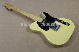 Wholesale Chinese Hand Cream - Hot Sale Chinese tele guitar cream yellow color real guitar pictures high quality TL standard guitar high quality free shipping