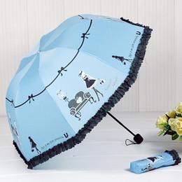 Wholesale Wholesale Beautiful Umbrella - Wholesale- 2016 New Arrival Beautiful Girl Pattern Umbrella Rain Women Fashion Arched Princess Umbrellas Female Parasol Creative Gift US041