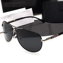 Wholesale Hd Sport Goggles - Fashion Men Wome Pilots Goggles Driving HD Polarized Eyewear Brand Designer Outdoor Sport UV400 Protection Sunglasses Retro Shades Glasses