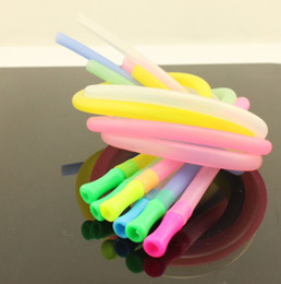Wholesale Dining Spoons - Multicolor 1m Personality Tubularis Soft Drinking Straws Kitchen Dining Bar Drinkware Straw Eco Friendly Hose Cup Drink Tube Tasteless 6xb