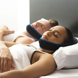 Wholesale Sleeping Aids - Anti-Snoring Jaw Wrap Anti Snore Belt Apnea Jaw Support Solution Sleep Aid Night Snoring Cessation