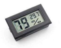 Wholesale Digital Lcd Display Thermometer - 2017 New Moisture Meters Built In Sensors Embedded Electronic Digital Hygrometer LCD Display