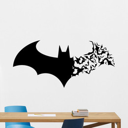 Wholesale Diy Vinyl Wall Decals - Hot sale New Handmade Creative DIY Graphic vinyl Batman Wall Stickers for bedroom decorative wall decal mural
