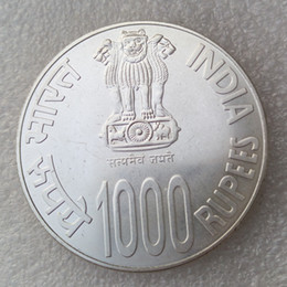 Wholesale india dance - 2010 India 1000 Rupees circulated Indian Copy Coins High Quality