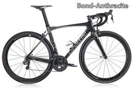 Wholesale Wheel Black 18 - Anthracite (Black-Grey) Cipollini BOND road bike with 5800 R8000 Groupset including BOND carbon road Frames+50mm carbon wheels free shipping