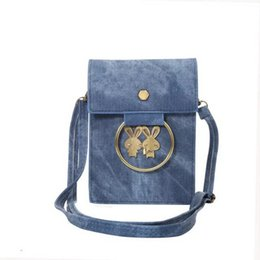 Wholesale Iphone Denim Wallet Case - 5.7inch Universal wallet shoulder strap Leather Handbags Bag Pouch for iPhone 6 7 Plus Samsung S8 S8 plus S7 Edge denim wristlet