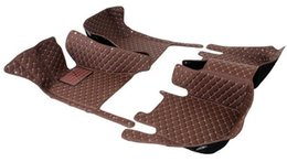 Wholesale peugeot leather - 5D diamond style designed leather car mats for BMW 320 2009-2011
