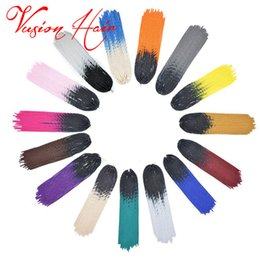 Wholesale Crochet Best - Ombre Faux Locs Corchet Hair Synthetic Braiding Hair Kanekalon Braiding Hair Extensions Goddness Faux Locs Crochet Braids Best Beauty