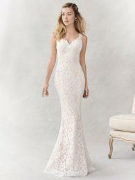 Wholesale Ella Rosa Wedding Dresses - 2017 Stunning Mermaid Bridal Gown Spaghetti Straps Sweetheart Neckline Lace Floral Applique Be356 F23 Ella Rosa Wedding Dress