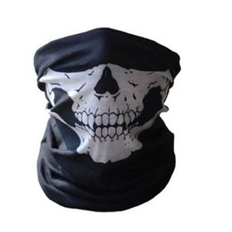 Wholesale Men Sport Scarves - Wholesale- Tubular Skull Ghosts Ghost Mask Bandana Motor bike Sport Scarf Warmer Winter Cold Halloween For Motorcycle