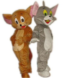 Wholesale Tom Cartoon Mascot - High quality Tom Cat and Jerry Mouse Mascot Costume Popular Cartoon Character Costume For Adult Fancy Dress Halloween carnival costumes