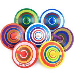 bunte flash-spinnerei Rabatt Klassische Holz Gyro Spielzeug Multicolor Mini Holz Kreisel Desktop-Spielzeug Hand Spinner Fidgets Lernen Lernspielzeug für Kinder