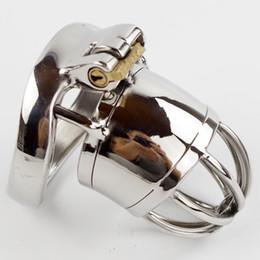 Dispositivo de cinturón de castidad hombres cinturón de acero inoxidable metal pene bloqueo castidad castidad cinturón juguetes sexuales masculinos desde fabricantes