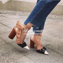 Wholesale Pink Strappy Heels - Fashion 2016 Pointed Toe High Heels Sandals Ankle Strappy Buckle Brand Women Sandals Celebrity Street Style Summer Shoes Woman