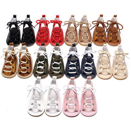 Wholesale Cutout Leather - Baby sandals princess shoes high shoes cutout gladiator baby boots girl's fashion sandals 10 colors 0101141