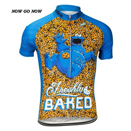 Wholesale Cycling Jerseys China - NOWGONOW Wholesale men hot cartoon 2017 cycling jersey tops clothing bike wear Mix Color Cartoon 10 style full zipper cool funny China