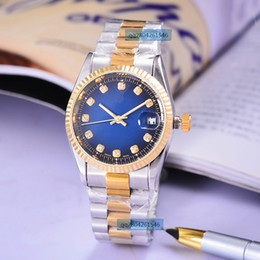 Wholesale 38 Rounds - Top brand solid steel strip automatic mechanical watches AAA quality 38 mm women suitable for log series