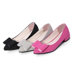 Wholesale Sexy Flat Comfortable Shoes - The bowknot of sexy fashion lady flat shoes, let your feet very comfortable, a variety of color, quality assurance, free postage
