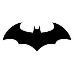 Wholesale Dark Red Vinyl - 16.5*6.8CM Classic Batman Dark Knight Vinyl Car Styling Decal Motorcycle Car Stickers