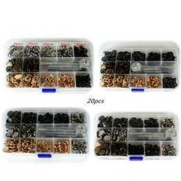 Wholesale price set Pack Metal Press Studs Sewing Button Snap Fasteners Sewing Leather Craft Clothes Bags