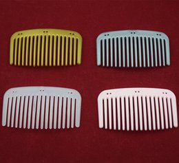 Wholesale Making Hair Clips - Lots 100pcs plain comb 7 color medium size magic hair comb ornament african butterfly comb Making Hair Clips