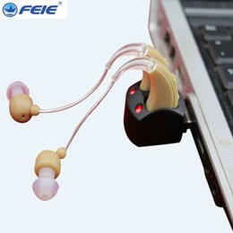 Wholesale Hearing Amplifier Rechargeable - 2017 personal listening amplifier behind ear BTE Sound Enhancement hearing aids rechargeable sale S-109S free shipping
