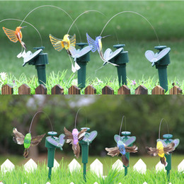 ornamento giardino solare Sconti Ornamenti della decorazione del giardino e della casa simulazione Farfalla volante di rotazione con la decorazione del giardino della farfalla di energia solare 60pcs IB211
