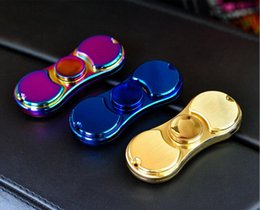 Wholesale 5colors Electronic Cigarettes - Fidget Spinner Rechargeable Cigarette Lighter Windproof EDC Finger Toy Decompression HandSpinners Metal Spinning Top USB Charger 5colors