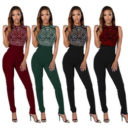 Wholesale- New Style Casual Sequined Rompers Women Jumpsuits Bodysuit Sexy  Slim Jumpsuit Sleeveless Overalls for Women affordable sexy animal print  jumpsuit 05d196a98