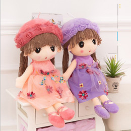 Wholesale Kids Western Dresses - 45cm Flower Fairy Dolls Fantasy Stuffed Dolls Pretty Flower Plush Wedding Rag Doll Girls Cloth Dolls Kids RagDoll Birthday Gift