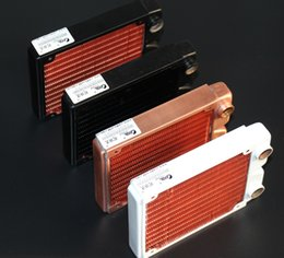 Wholesale Full Sink - Wholesale- 120MM High quality full red copper water cooled exchanger water cooling computer computer heat sink radiator
