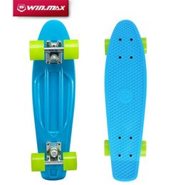 "Wholesale Skateboard 22 - Skateboard Plastic Skatebo Winmax Pastel Color Original Board 22"" Plastic Skateboard Board Boy Girl Retro Cruiser Skate Board Skateboard"