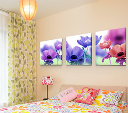 Wholesale Contemporary Floral Wall Paintings - 20 * 20 9 mm home sitting room adornment contemporary and contracted sanlian frameless painting creative mural wall hangs a picture wholesal
