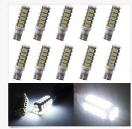 Wholesale Car Led Side Marker Light - 100PCS T10 68SMD 1206 LED light LED Car W5W Side Wedge Lamp Marker Bulb License plate lights DC12V wholesale