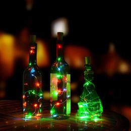 2019 bottiglie di riciclaggio Riciclare le luci bottiglia di vino a batteria 15LEDS bottiglia stringa decorazione fai-da-te liquore lampade vuote, Natale LED String luci decoro bottiglie di riciclaggio economici